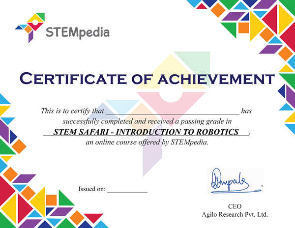 Introduction to Robotics Certificate